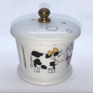 Other - Porcelain Stamp Dispenser with cow decor- Vintage